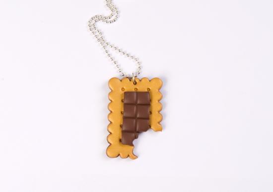 sautoir petit beurre croqué et se tablette de chocolat