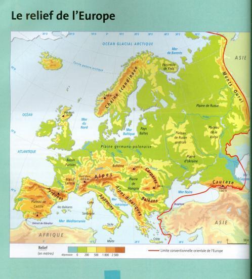 Carte De Leurope Relief Vierge.Cartes A Maitriser