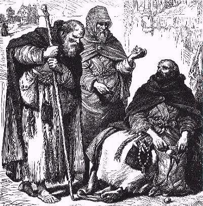 Des moines mendiants au Moyen âge