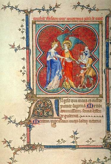 Le mendiant père de famille nombreuse, vers 1336-1340, BnF