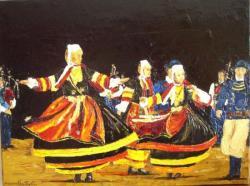 Danseuses Pont L'Abbé 1870