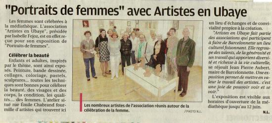 """Exposition """"portraits de femmes"""""""