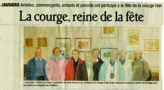 """Exposition """"Automne"""" à Jausiers"""