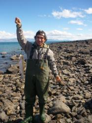 Carlito y su trucha arcoiris - Lago Argentino