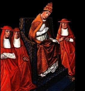 Le pape Innocent IV au Concile de Lyon.