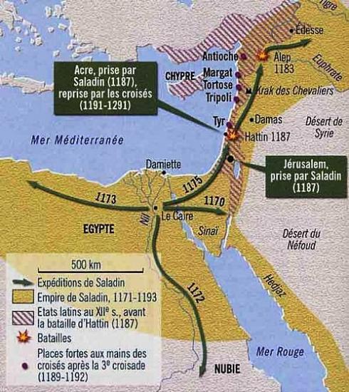 Progression de Saladin