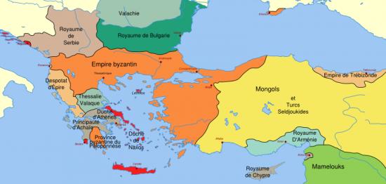 empire byzantin en 1265