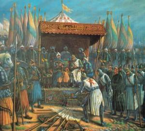Le 2 octobre 1187, Saladin s'empare de Jérusalem.