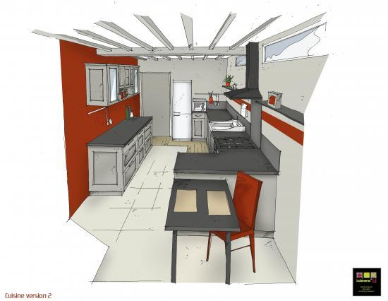 Agencement d 39 une cuisine for Agencement cuisine style bistrot