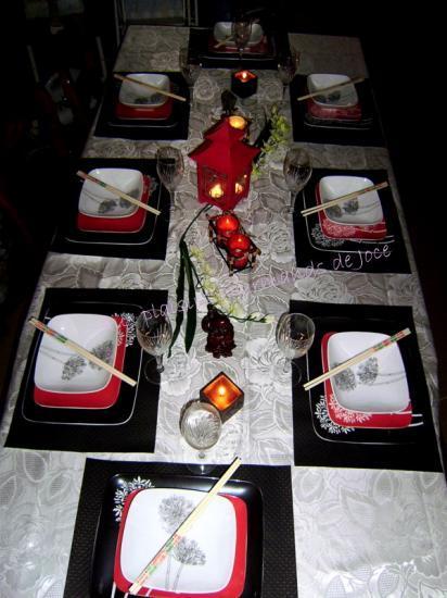 D corations de table sur le th me de l 39 asie for Decoration asie