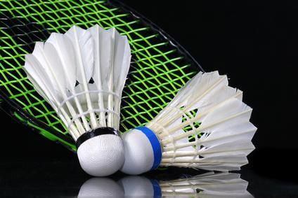Faire du badminton avec des amis