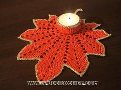 bougeoir au crochet