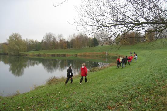 Pointe de vitesse autour du petit étang