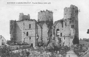 Bourbon l'archambault-Château