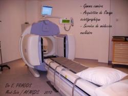Gamma caméra pour l'acquisition des images du ganglion sentinelle ou scintigraphie osseuse /  Med-Sein