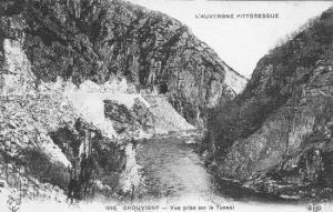 Chouvigny - vue sur le tunnel