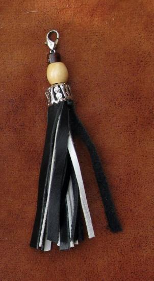 Pompon perles bois 11 cm