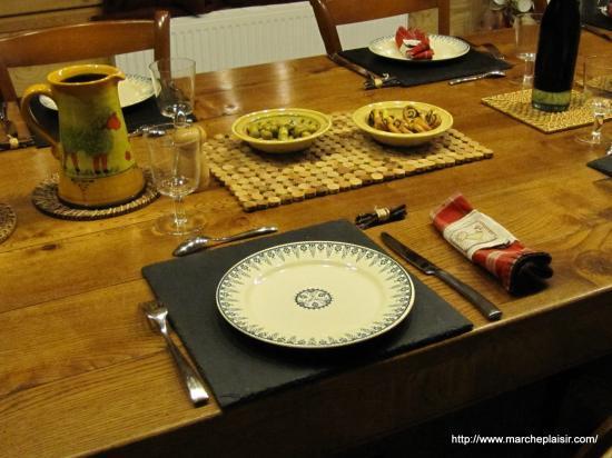 Table dressée à La Vercorelle