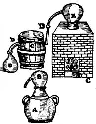 en haut : apparition du réfrigérant dans un tonneau