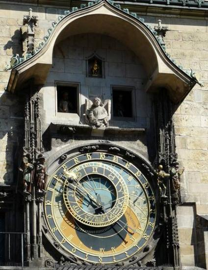 Prague, 1410, Le cadran astronomique et les personnages animés.