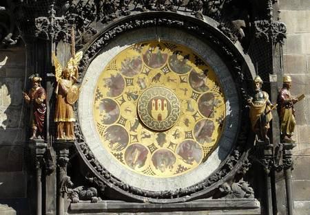 Prague, 1410, le cadran du calendrier.