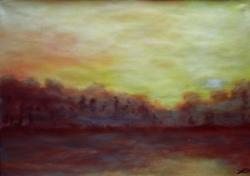 peinture coucher de soleil