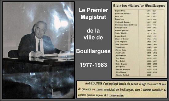 André Dupuis Maire de Bouillargues