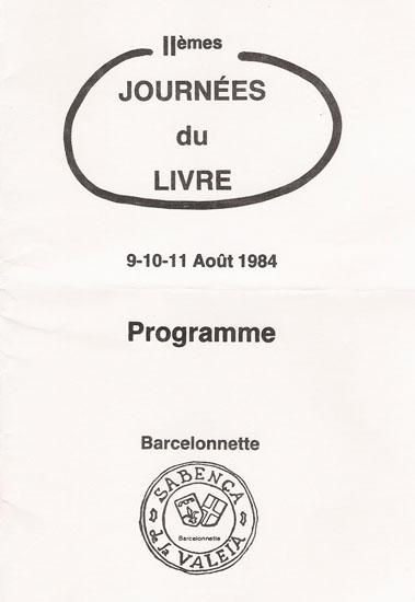 journées du livre 1984