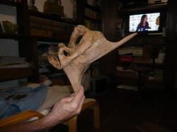ebauche de sculpture en châtaignier