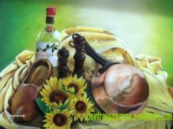 pastel sec dessin composition nature morte