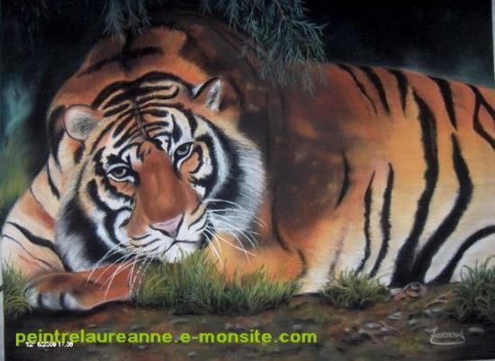 dessin au pastel sec animaux tigre