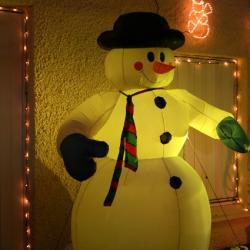 bonhomme de neige illuminé