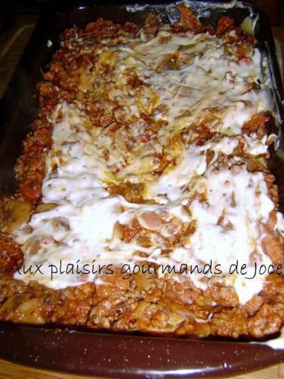 Lasagnes au boeuf champignons - Plat avec bechamel ...