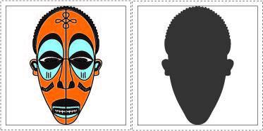 Jeu ombres masques
