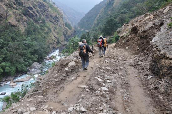La piste du côté de Jagat
