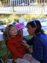 maquillage avec Clarisse