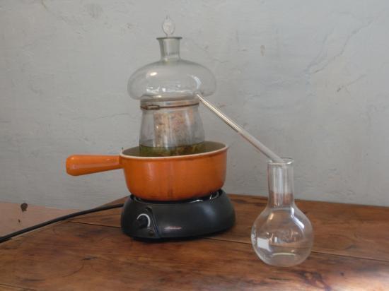 Alambic à tête de Maure (distillation d'eau de rose)
