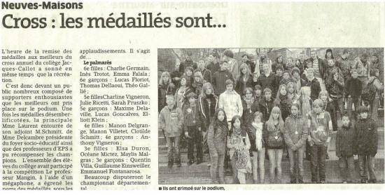 Cross Jacques Callot Neuves Maisons