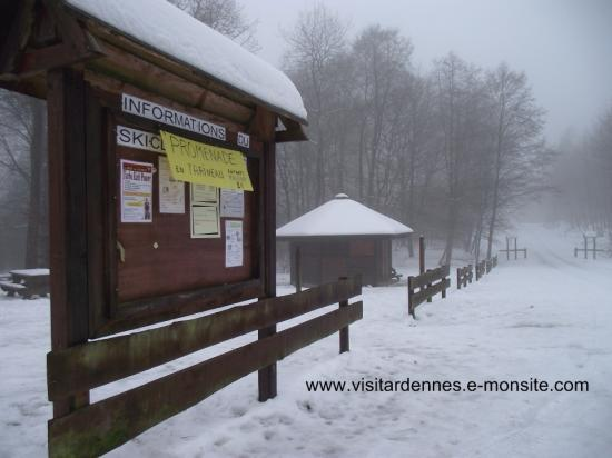 la chapelle 08 ski de fond ardennes 2010 enneigement. Black Bedroom Furniture Sets. Home Design Ideas