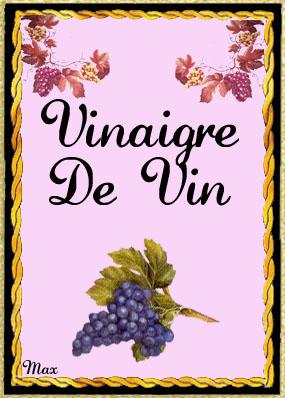 Etiquette vinaigre de vin - Vinaigre blanc et vinaigre d alcool ...