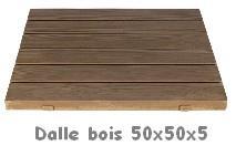 Dalles et pas japonais - Dalle caillebotis bois ...