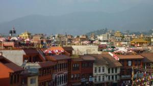 A proximité du stupa de Bodnath