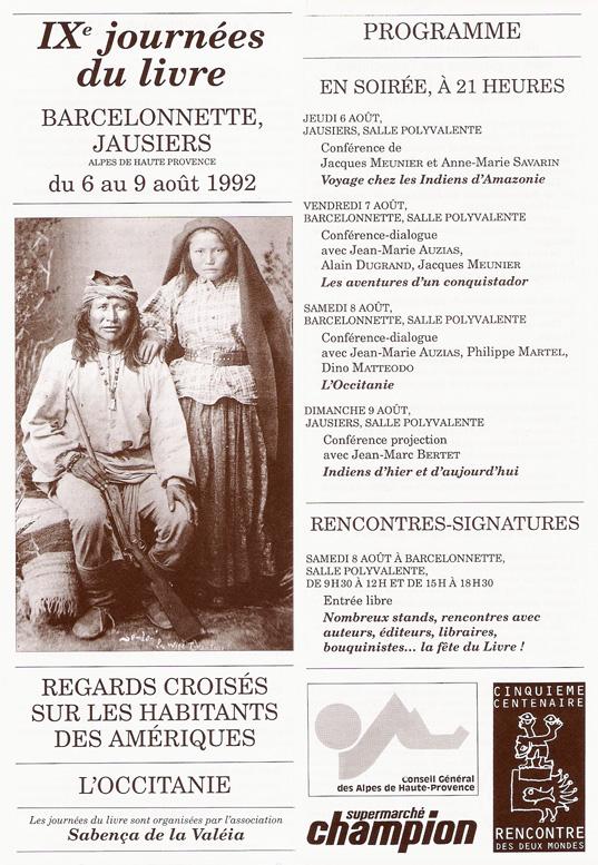 journées du livre 1992