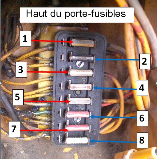 Circuit electrique case 580 g - Porte fusible a broche ...