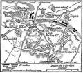Plan de la bataille de Rossbach.