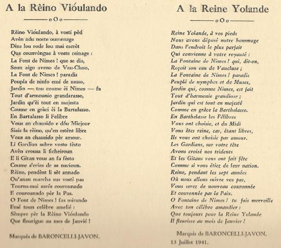 Poème du Marquis de Baroncelli