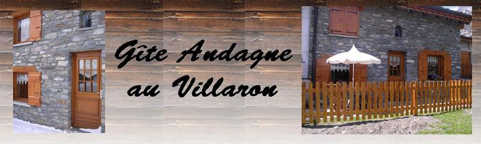 bienvenue dans le gite d'ANDAGNE appartement à louer au hameau du VILLARON à Bessans en Haute Maurienne