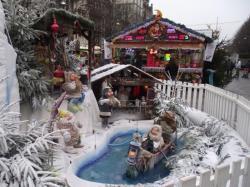 L'entrée du village de Noël