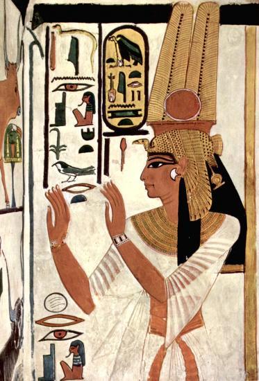 Peinture de Néfertari la représentant dans sa tombe de la vallée des reines