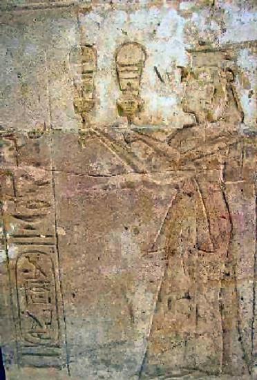 Gravure de Taousert au temple d'Amada-Nubie